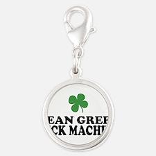 Mean Green Luck Machine Silver Round Charm