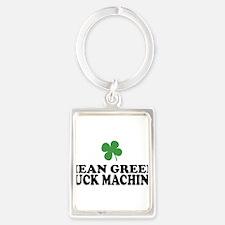 Mean Green Luck Machine Portrait Keychain