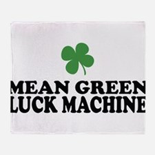 Mean Green Luck Machine Throw Blanket