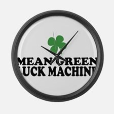 Mean Green Luck Machine Large Wall Clock