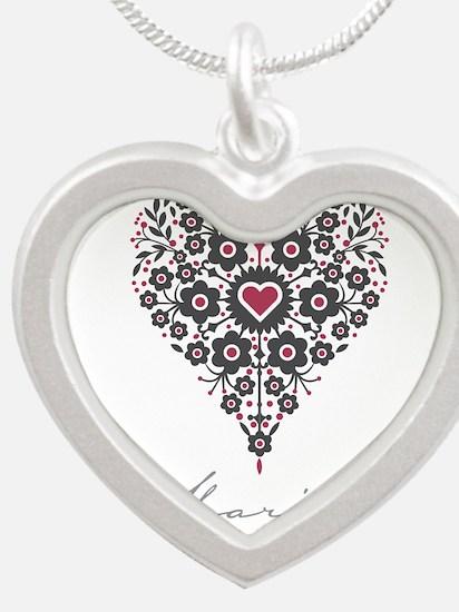 Love Maribel Silver Heart Necklace