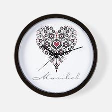 Love Maribel Wall Clock