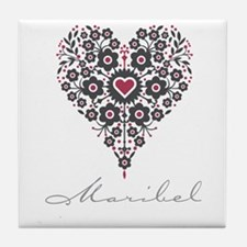 Love Maribel Tile Coaster