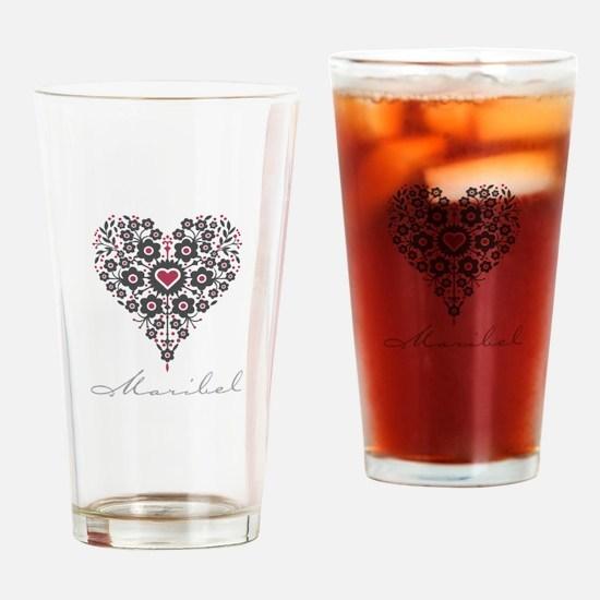 Love Maribel Drinking Glass