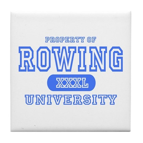 Rowing University Tile Coaster