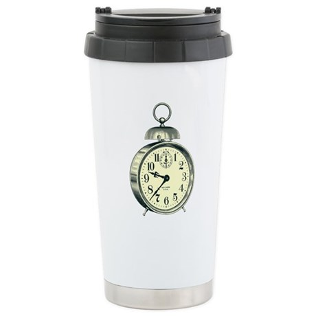 Alarm Clock Stainless Steel Travel Mug