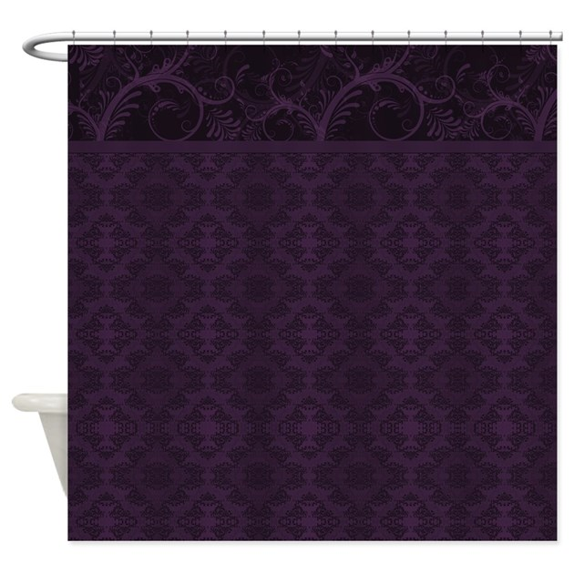 Royal Purple Damask Shower Curtain By Bwcdesigns