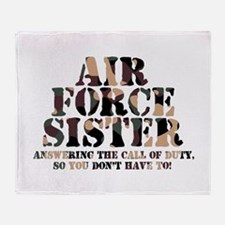 AF Sister Answering the Call Throw Blanket