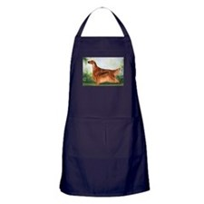 Irish Setter 3 by Dawn Secord.jpg Apron (dark)