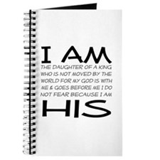 I am His block letters Journal