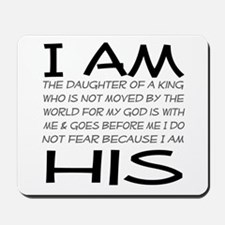 I am His block letters Mousepad