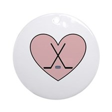 Hockey Heart Ornament (Round)