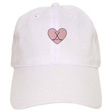 Hockey Heart Baseball Baseball Cap