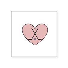Hockey Heart Sticker