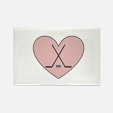 Hockey Heart Rectangle Magnet