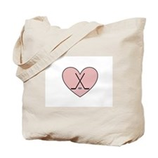 Hockey Heart Tote Bag