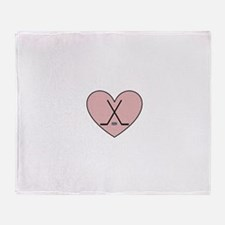 Hockey Heart Throw Blanket