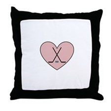 Hockey Heart Throw Pillow