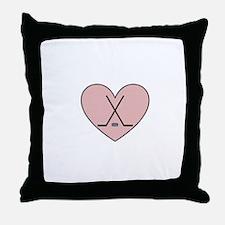 Hockey Heart Throw Pillow