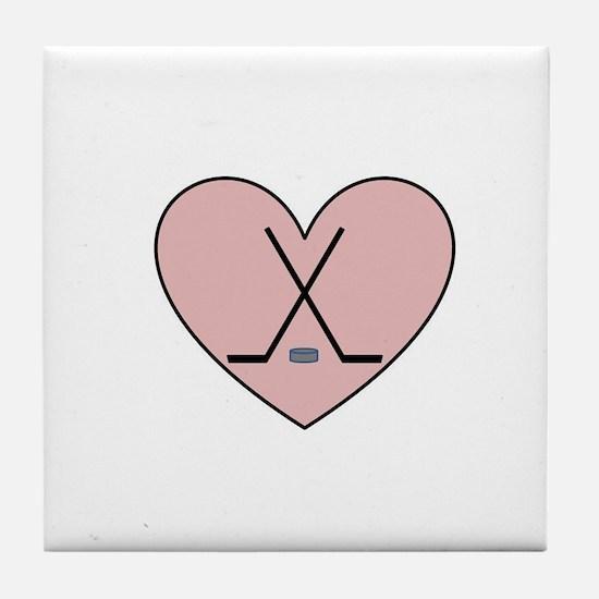 Hockey Heart Tile Coaster