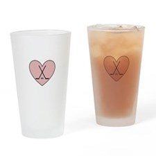 Hockey Heart Drinking Glass