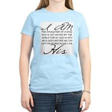 I am His script letters T-Shirt