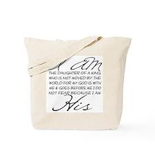 I am His script letters Tote Bag