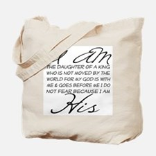I am His script letters Tote Bag