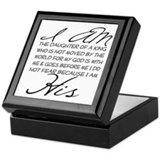 I am His script letters Keepsake Box