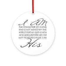 I am His script letters Ornament (Round)