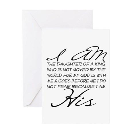 I Am His Script Letters Greeting Card By WhoIAmInChrist