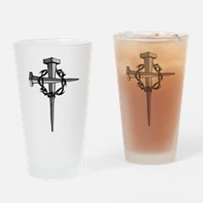 Nail Cross Drinking Glass