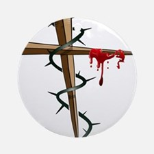 Nail Cross Ornament (Round)