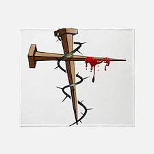 Nail Cross Throw Blanket