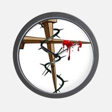 Nail Cross Wall Clock