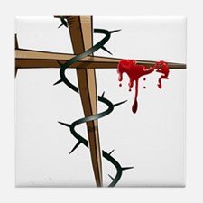 Nail Cross Tile Coaster