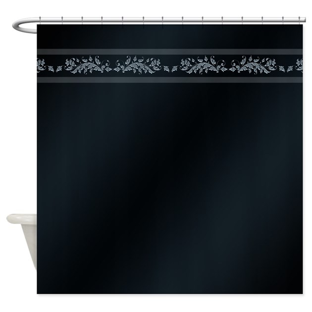 Simple Royal Blue Shower Curtain By BWCDesigns