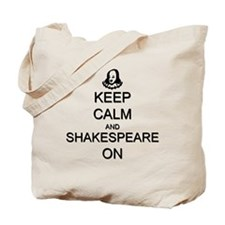 Keep Calm and Shakespeare On Tote Bag