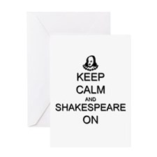 Keep Calm and Shakespeare On Greeting Card