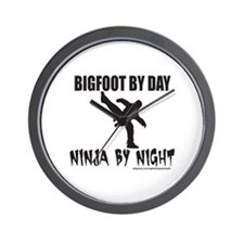 BIGFOOT BY DAY NINJA BY NIGHT Wall Clock