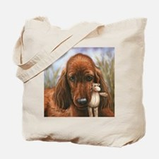Irish Setter Pup by Dawn Secord Tote Bag