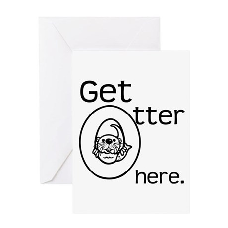 Get Otter Here Greeting Card