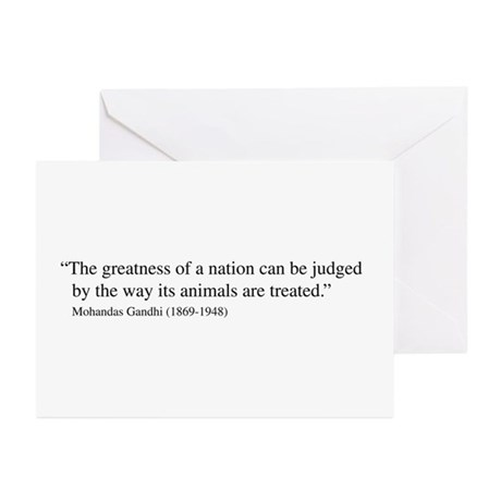 Gandhi quote Greeting Cards (Pk of 10)