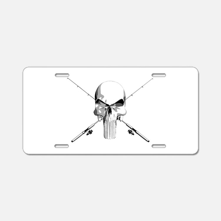 Cute Fishing Aluminum License Plate