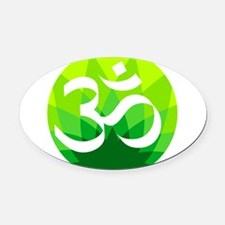 Namaste Oval Car Magnet