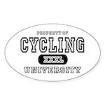Cycling University Oval Sticker