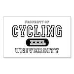 Cycling University Rectangle Sticker