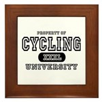 Cycling University Framed Tile