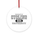 Cycling University Ornament (Round)