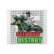 SEEKANDDESTROY copy.png Throw Blanket